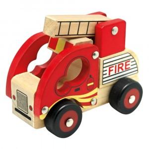 Bino - drewniane autko - Straż pożarna (Z0968)