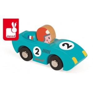 Janod - Wyścigówka drewniana Speed - niebieska (Z0984)
