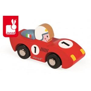 Janod - Wyścigówka drewniana Speed - czerwona (Z0985)