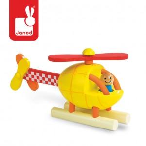 Janod - Helikopter drewniany magnetyczny (Z0986)