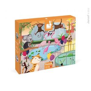 Janod - Puzzle sensoryczne 20 elementów Wycieczka do zoo (Z0987)
