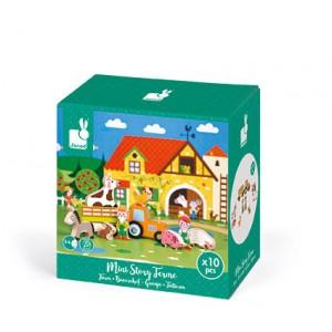 Janod - Farma zestaw drewniany 10 elementów kolekcja Story (Z0993)