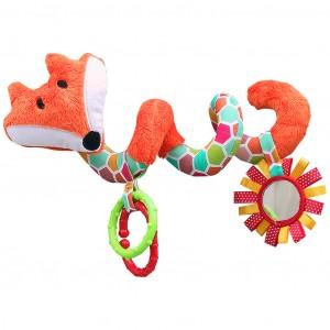 Mom's Care Hencz Toys - Zawieszka - spirala do wózka Lisek - Rudy (Z1001)