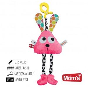 Mom's Care Hencz Toys - Długołapek do wózka, łóżeczka, fotelika - Różowy (Z1002)