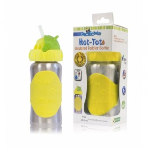 Termobutelka bidon ze słomką Pacific Baby 265 ml - Silver Yellow (Z1055)