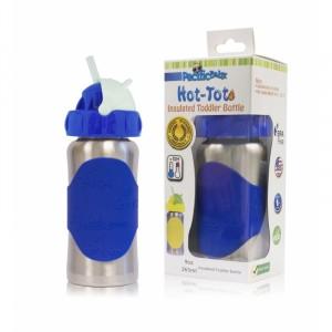 Termobutelka bidon ze słomką Pacific Baby 265 ml - Silver Blue (Z1056)