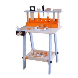 Ecotoys - Drewniany warsztat + zestaw narzędzi 32 elementy (Z1063)