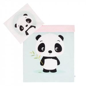Komplet minky Panda/ minky jasny róż 75x100 cm GUFO design (Z1075)