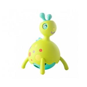 Wesoły Rollobie Fat Brain Toys - gryzak, jeździk, grzechotka - Zielony (Z1165)