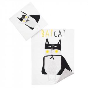 Komplet minky Bat Cat/ minky szare 75x100 cm GUFO design (Z1167)