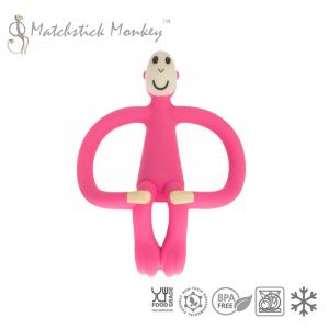 Matchstick Monkey - ekologiczny i bezpieczny gryzak ze szczoteczką masującą - Różowy (Z1180)