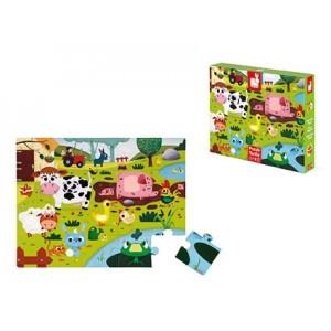 Janod - Puzzle sensoryczne 20 elementów farma (Z1186)