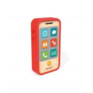 Janod - Telefon drewniany z dźwiękami (Z1196)
