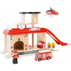 Small Foot Design - Zabawka dla chłopca - Remiza strażacka z akcesoriami (Z1215)