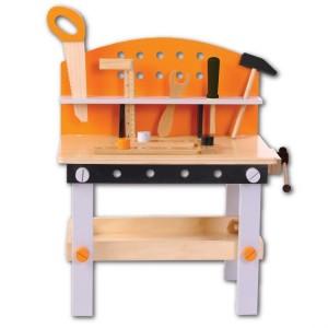 ECOTOYS Drewniany  warsztat zestaw narzędzi 32 elementy (Z1240)