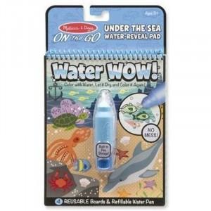 Melissa & Doug - Water Wow Wodna kolorowanka wielokrotnego użytku - Podwodny świat (Z1282)