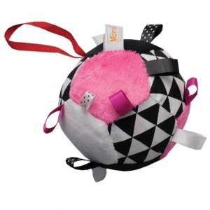 Mom's - piłeczka piłka z grzechotką różowa (Z1377)