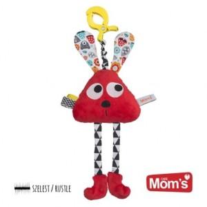 Mom's Care Hencz Toys - Długołapek do wózka, łóżeczka, fotelika - Czerwony (Z1379)