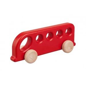 Lupo Toys - Drewniany autobus - czerwony (Z1382)