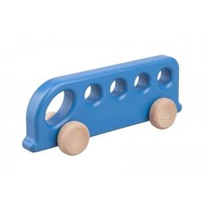 Lupo Toys - Drewniany autobus - niebieski (Z1383)