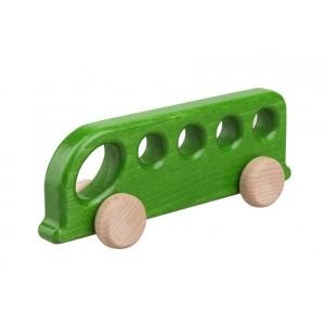 Lupo Toys - Drewniany autobus - zielony (Z1384)