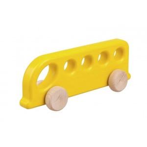 Lupo Toys - Drewniany autobus - żółty (Z1385)