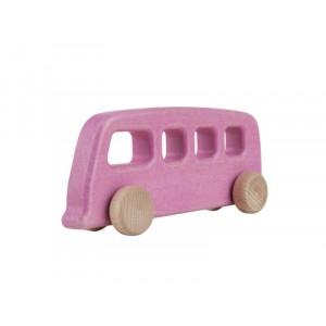 Lupo Toys - Drewniany autobus vintage - różowy (Z1386)