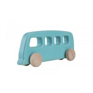 Lupo Toys - Drewniany autobus vintage - turkusowy (Z1387)