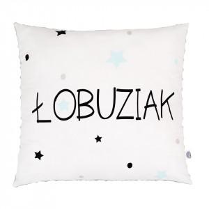Poduszka Łobuziak 2/ minky jasny szary (Z1425)