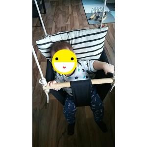 Huśtawka krzesełkowa - Czarna (Z1454)