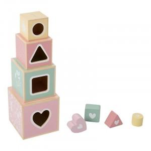 Little Dutch Drewniana wieża sorter - Różowa (Z1502)