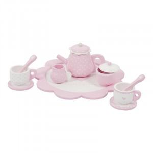 Little Dutch Drewniany zestaw do herbaty - Różowy (Z1505)