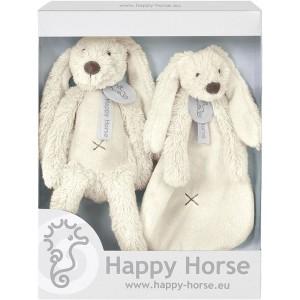 Happy Horse - Zestaw prezentowy królik Richie +szmatka - Beżowy (Z1552)