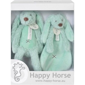 Happy Horse - Zestaw prezentowy królik Richie +szmatka Miętowy (Z1554)