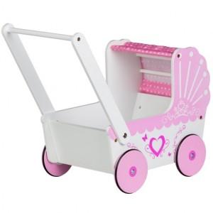 ECOTOYS - drewniany wózek dla lalek (Z1561)