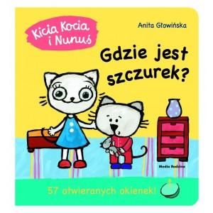 Kicia Kocia i Nunuś - Gdzie jest szczurek? z okienkami (Z1618)