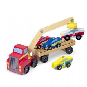 Melissa&Doug Ciężarówka z podnośnikiem na 4 samochody (Z1644)