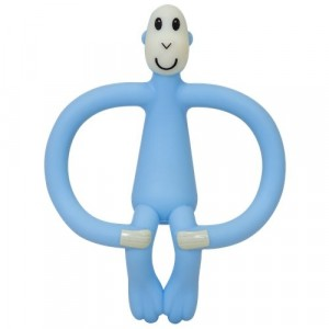 Matchstick Monkey - ekologiczny i bezpieczny gryzak ze szczoteczką masującą - Błękitny (Z1652)