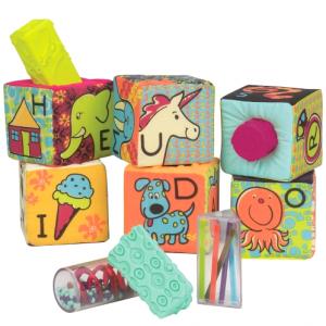 B.TOYS ABC Block Party Klocki materiałowe duże z sorterami 6m+ (Z1657)