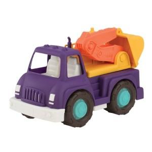 Wonder Wheels B.Toys - solidna Cieżarówka z koparką 1+ (Z1673)