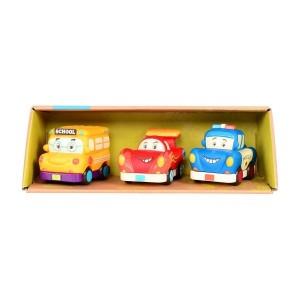 B.Toys -Zestaw 3 miękkich mini autek z radiowozem (Z1682)