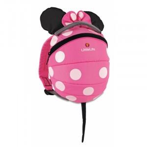 Plecak Little Life Disney z odpinaną smyczą 1-3 lata  - Myszka Minnie Pink (Z1687)