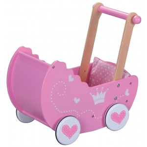 Lelin - drewniany wózek dla lalek - pchacz (Z1689)