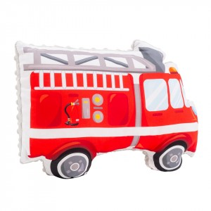 Poduszka maskotka Straż pożarna / minky jasny szary (Z1690)