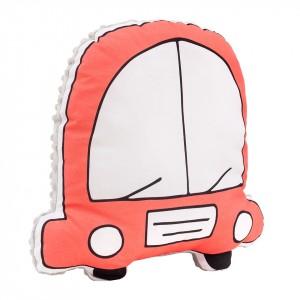 Poduszka maskotka Auto / minky jasny szary (Z1691)