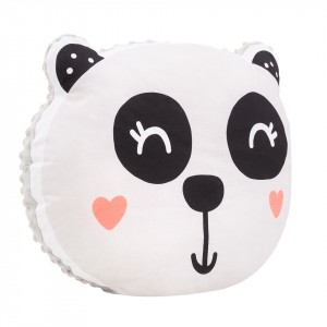 Poduszka maskotka Panda/ minky jasny szary (Z1693)