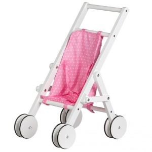 ECOTOYS Drewniany wózek spacerówka dla dzieci (Z1724)