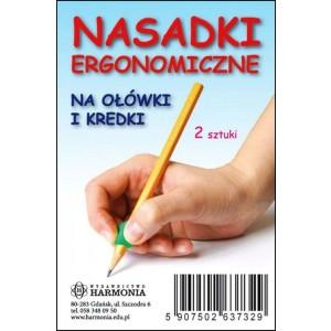Nasadki ergonomiczne na ołówki i kredki - 2 szt. (Z1747)