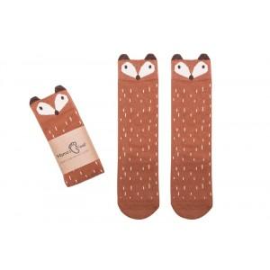 Podkolanówki Liski- rudy lisek Grzesiu Mama's Feet 0-2 lata (Z1775)