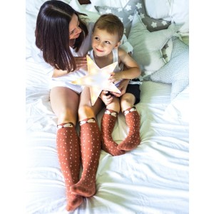 Podkolanówki Liski- rudy lisek Grzesiu Mama's Feet dla mamy 37-41 (Z1787)